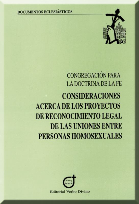 Consideraciones acerca de las uniones homosexuales