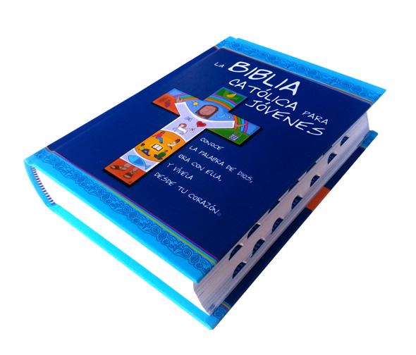 Biblia Católica para Jóvenes Junior con uñero lateral