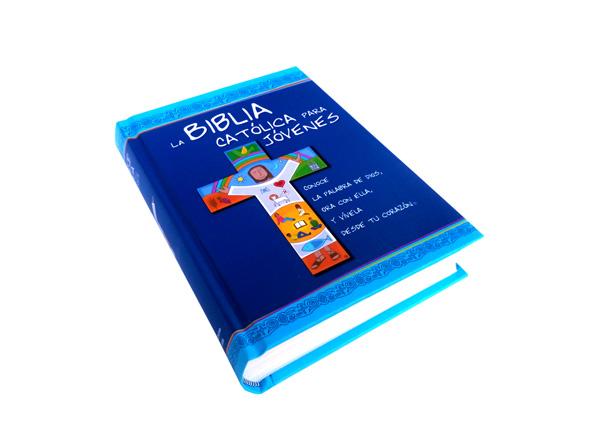 Biblia Católica para Jóvenes Junior con uñero tapa